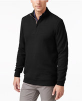 Tasso Elba Men's Big and Tall Honeycomb Textured Quarter Zip Sweater, Only at Macy's