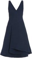 Jason Wu V Neck Silk Gauze Flounce Dress