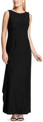 Chaps Women's Ruffled Evening Gown