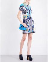 Mary Katrantzou Azurite crepe mini dress