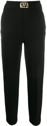 Pinko High-Waisted Belted Trousers