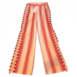 Dodo Bar Or Red Linen Trousers