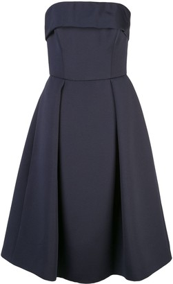 Amsale Strapless Flared Dress