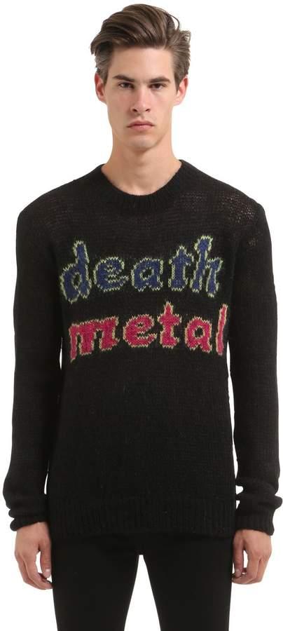 McQ Death Metal Wool Mohair Sweater
