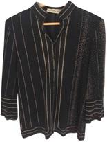 Leonard Black Silk Top for Women Vintage