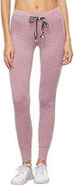Shein Rust Heathered Knit Sports Pants