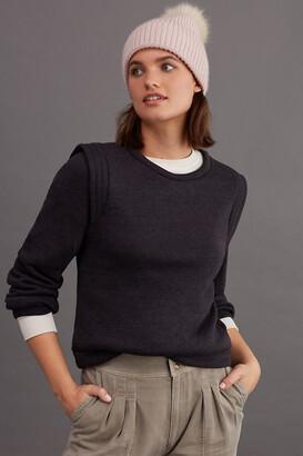 Eri + Ali Mae Pleated Sweatshirt By in Black Size XS