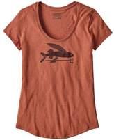 Patagonia Women's Flying Fish Organic Cotton/Poly Scoop T-Shirt