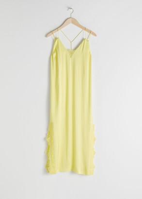 And other stories Satin Midi Slip Dress