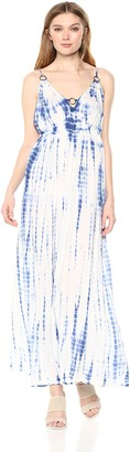 En Creme Women's Sleeveless Tiedye Maxi Dress