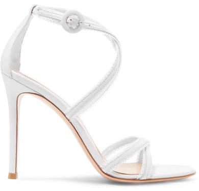 Gianvito Rossi 100 Leather Sandals - White