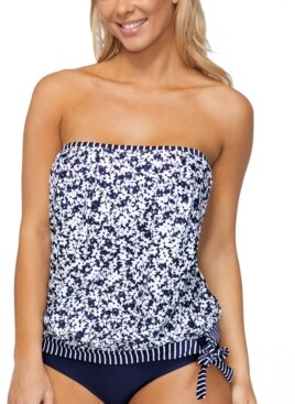 Island Escape Swimwear Love Songs Coral Gables Printed Tankini Top, Created for Macy's Women's Swimsuit