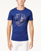 Versace Men's Foil Print Cotton T-Shirt