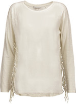 Rebecca Minkoff Jimmy fringed slub linen top