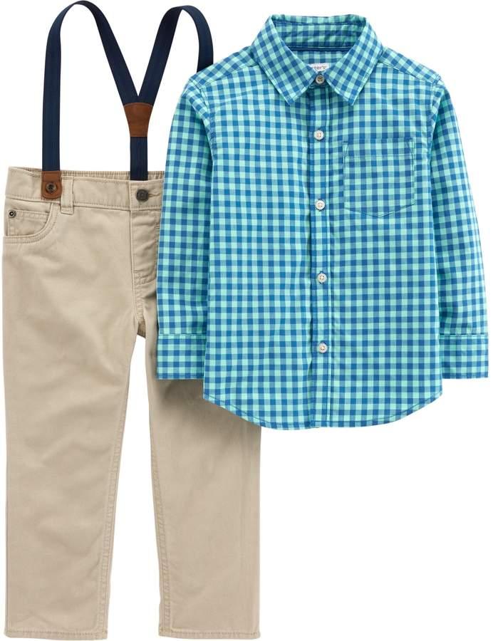 8206ac1b993b Kids Suspender Shirt - ShopStyle