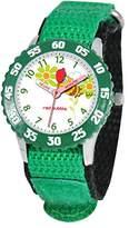 Red Bubble Red-Girls-Bubble W002058 Educational Quartz Watch-Green Nylon Strap White Dial