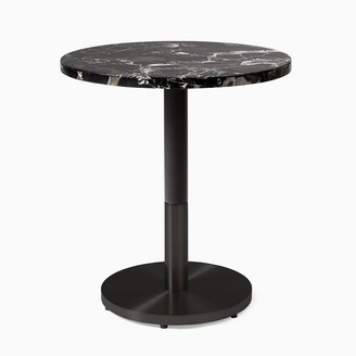 """west elm Black Marble Round Continental Table - Tea Height (25"""")"""