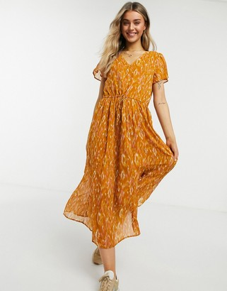 Vila maxi smock dress in print