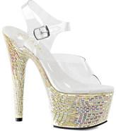 Pleaser USA Women's Bejeweled 708MR Ankle Strap Sandal