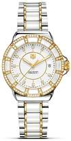 """Tag Heuer Formula 1"""" Steel, Gold And White Ceramic Watch With Diamonds, 36mm"""