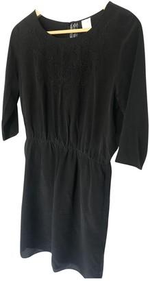 Des Petits Hauts Black Silk Dress for Women