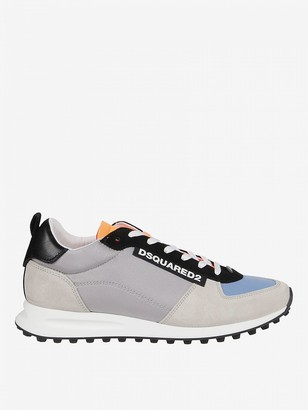 DSQUARED2 Sneakers In Micro Mesh Suede And Leather