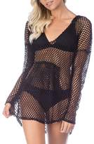 Green Dragon Women's Nice Catch Fishnet Cover-Up