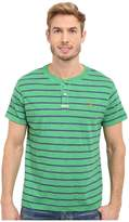 U.S. Polo Assn. Slim Fit Stripe Slub Henley T-Shirt