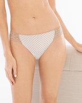 Soma Intimates Vanishing Edge Cotton/Modal with Lace Bikini