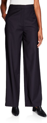 Co Wool Straight Leg Trousers
