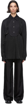 Ann Demeulemeester Black Cotton Bavet Shirt