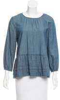 The Great Chambray Button-Up Top