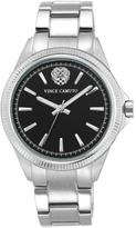 Vince Camuto Women's Black Dial Silvertone Bracelet Watch