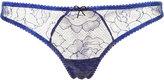 Fleur Du Mal lace thong - women - Polyamide - 1