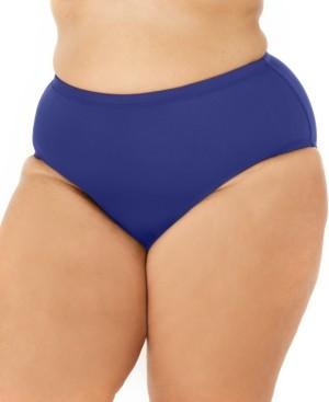 La Blanca Plus Size Island Goddess Solid Swimsuit Bottom Women's Swimsuit