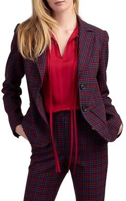 Trina Turk Jezabel Plaid Blazer Jacket