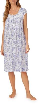 Eileen West Cap Sleeve Jersey Waltz Nightgown
