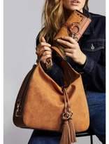 River Island Womens Beige tassel tab slouch bag