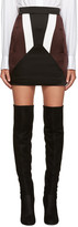 Neil Barrett Black Colorblocked Miniskirt