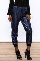 Ark & Co Navy Sequin Jogger