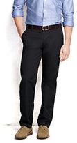 Lands' End Men's Pre-hemmed Traditional Fit Hybrid Chino Pants-Shaker Gray