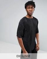 Reclaimed Vintage Inspired Oversized Plisse T-Shirt