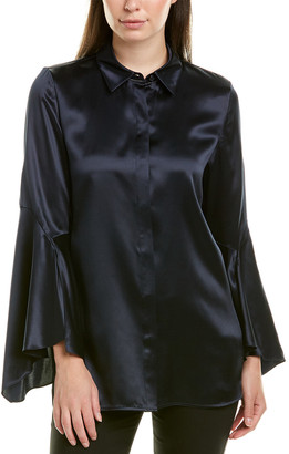 Lafayette 148 New York Cartolina Silk Blouse