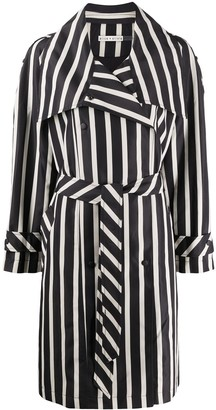 Alice + Olivia Brenton Moondust striped trench coat
