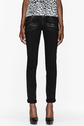 Balmain PIERRE Black slim riding jeans
