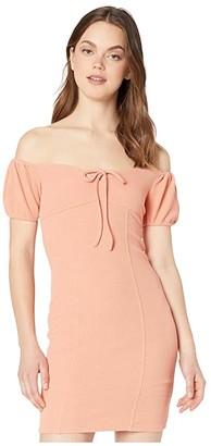 BCBGeneration Cocktail Off-the-Shoulder Dress TRT6268184 (Papaya) Women's Dress