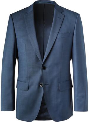 HUGO BOSS Blue Virgin Wool Suit Jacket