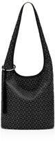 Elizabeth and James Finley Courier Rivet Leather Hobo