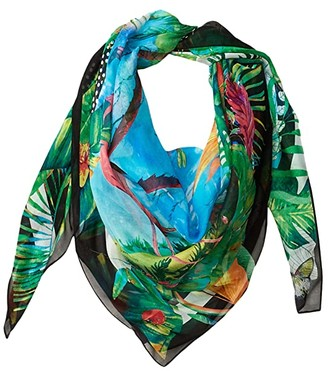 Vince Camuto Island Safari Silk Square (Bloom) Scarves