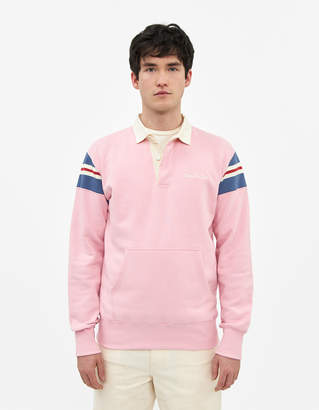 Leon Aime Dore Men's Terry Rugby Shirt in Sand Pink, Size Large | 100% Cotton
